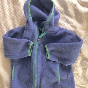 LL Bean Blue Fleece Hoodie Jacket